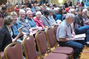 LOMCB members enjoy listening to other groups perform